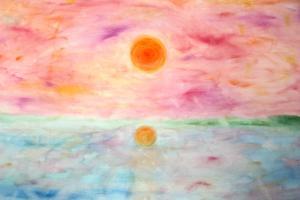 Auringonlasku Pielisellä, 90*60 cm