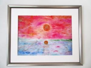 Auringonlasku Pielisellä